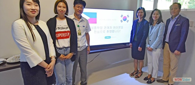 KING SEJONG University visits LORMA COLLEGES
